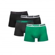 Puma boxershorts Placed Logo 4-pack Zwart/Groen-S