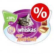 6x72g Whiskas Temptations de pollo y queso snacks para gatos