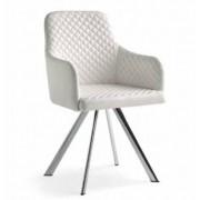 items-france DENVER - Lot de 4 chaises similicuir 57x56x93/53cm
