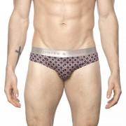 Parke & Ronen Diamond Low Rise Brief Underwear Black/Flamingo U103