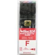 OHP Permanent marker ARTLINE 853, varf fin - 0.5mm, 4 culori/set - (BK,RE,BL,GR)