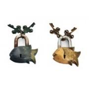 Indigo Creatives Vaastu Fengshui Prosperity Fish Look Set of 2 Safety Locks Safety Lock(Black)