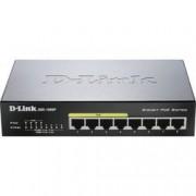 D-Link Síťový switch D-Link, DGS-1008P, 8 portů, 1 GBit/s, funkce PoE