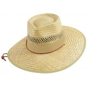 Legend Touch Straw - Pinched Crown With Green Under Brim Cap Natural 3942