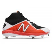 New Balance Mid-Cut 4040v4 Metal Baseball Cleat Orange with Black