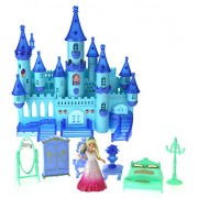 My Dream My Beauty Battery Operated Toy Castle Dollhouse w/ Light up Effects, Music, Doll Princess Figure, Furniture, & Accessories