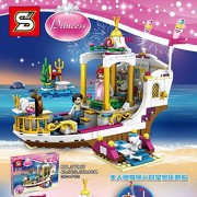 Babytintin Happy Princess Dreamworlds Magic Snow Castle with Block Set Toy for Kids and Girls (393)