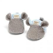 VIENNAR Zapatos de bebé recién nacido para niña, suela suave, antideslizante, para cuna, para recién nacidos, gris, 0-6 Months Infant