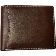 National Leathers Men Brown Genuine Leather Wallet(3 Card Slots)