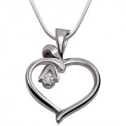 Surat Diamond Desire Love - Real Diamond & 925 Silver Pendant with 18 Chain SDP106