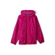 Lands' End Wasserdichte Regenjacke mit Packfach Gemustert für kleine Kinder - Pink - 122/128 von Lands' End