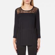 Selected Femme Women's Mussa Lace Top - Black - EU 36/UK 8 - Black