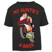 U - My Auntie is a biker motorcycle toddler baby childrens kids t-shirt 100% cotton