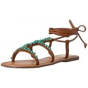 Madden Girl Women's Kalipsoo Gladiator Sandal, Cognac Paris, 6 M US