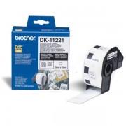 Brother Originale P-Touch QL 500 Etichette (DK-11221) 23mm x 23mm, Contenuto: 1000 - sostituito Labels DK11221 per P-Touch QL500