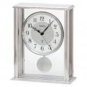 AMS 5190 Tafelklok pendule zendergestuurd zilverkleurig 25 x 20 cm