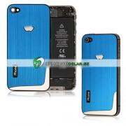 iPhone 4S Bakstycke Borstad L-Design (Ljusblå)