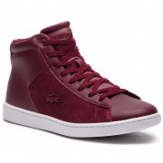 Сникърси LACOSTE - Carnaby Evo Mid 318 1 Spw 7-36SPW00172H2 Burg/Wht