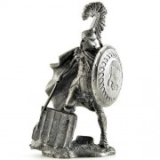 V century BC Greek mercenaries. Metal sculpture. Greek mercenaries V century BC. Metal sculpture. Tin toy soldiers. Collection 75 mm (scale 1/23) Figurine. Soldier of tin toys