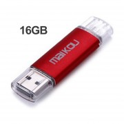 16G Mobile OTG USB Flash Drive USB 2.0 Micro Memory Stick Pen U Disco