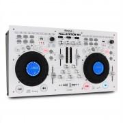 IBIZA FULL-STATION DJ комплект двоен CD/MP3 плеър скреч смесител USB SD бял (FULL STATION-WH)