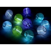 Outdoor Lights Solar-LED-Sommerlichterkette, Lampions, bunt