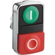 Buton cu cap dublu verde încastrat/roșu aparent - Butoane si lampi din metal Ø22 - Harmony xb4 - ZB4BL7341 - Schneider Electric