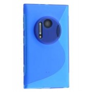 Wave Case for Nokia Lumia 1020 - Nokia Soft Cover (Frosted Blue/Blue)