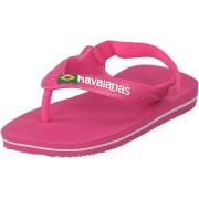 Havaianas Baby Brasil Logo Ii Shocking Pink, Skor, Sandaler & Tofflor, Flip Flops, Rosa, Barn, 21