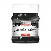 Pentart Matt fekete színű akril bázisú hobbi festék 230 ml 3233