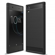Carcasa TECH-PROTECT TPUCARBON Sony Xperia XA1 Plus Black