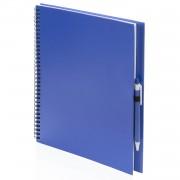Geen Schetsboek/tekenboek blauw A4 formaat 80 vellen inclusief pen