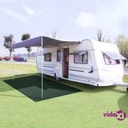 vidaXL Tepih za šator 250 x 600 cm HDPE zeleni