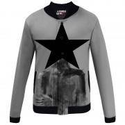 Mr. Gugu & Miss Go Black Star Unisex Baseball Jacket BJCS936