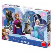 Puzzle 4 in 1 - Frozen - Regatul de Gheata (54 piese)