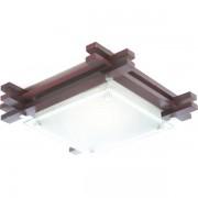 Plafonier cu lemn inchis 27x27cm Edison 48324 GL