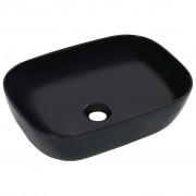 vidaXL Umivaonik 45,5 x 32 x 13 cm keramički crni