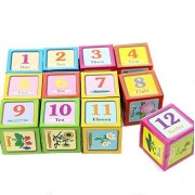 Dazzling Toys Alphabet, Number and Picture Puzzle on Cubes 6 Puzzles in 1