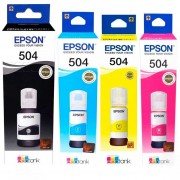 Pack 4 Botellas Tinta Epson Original T504 L4150 L4160 L6161 L6171