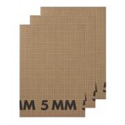 HEMA 3-pak Schriften A4 Ruit 5 Mm