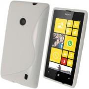 Силиконов гръб ТПУ S-Line за Nokia Lumia 520 Бял