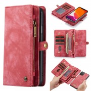 CASEME 008 Series Split Leather Wallet Detachable Phone Case for iPhone 11 Pro 5.8 inch (2019) - Red