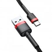 Cablu de date Baseus Cafule Type-C 200cm Red/black