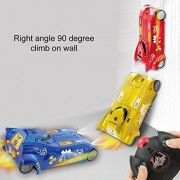 BonZeal Super Wall Climber 90 Degree Stunt Infrared Sensors Mini Wall Climber Electric Vehicle RC Remote Control Car Model Toy for Kids Children (Red)