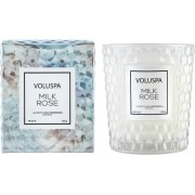 Voluspa Roses Milk Rose Boxed Textured Glass Candle 184 g