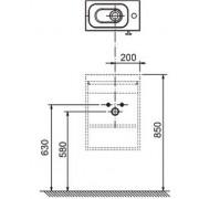 Mobilier pentru lavoar SD Chrome 400