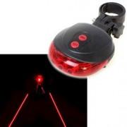 Lézeres Bicikli vörös hátsó lámpa 5 Led +2 lézer - DW-116