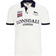 Lonsdale Gatley Camisa de polo Blanco/Azul L