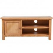 vidaXL Tv-meubel 103x36x46 cm massief eikenhout