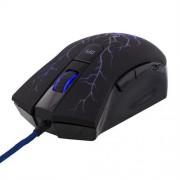 Deltaco optisk spelmus svart med blått ljus, 2800dpi